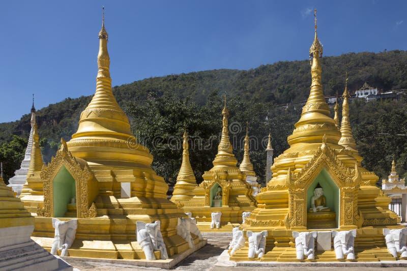 Templo de Pindaya - Pindaya - Myanmar fotografía de archivo libre de regalías
