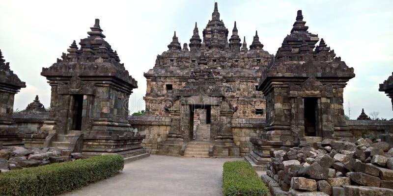 Templo de Plaosan foto de stock royalty free