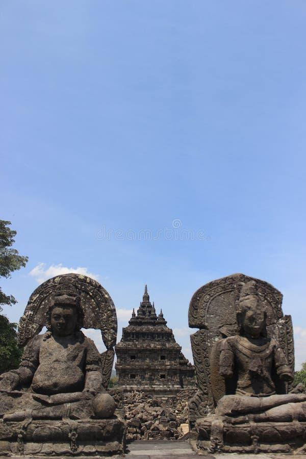 Templo de Plaosan fotos de stock royalty free