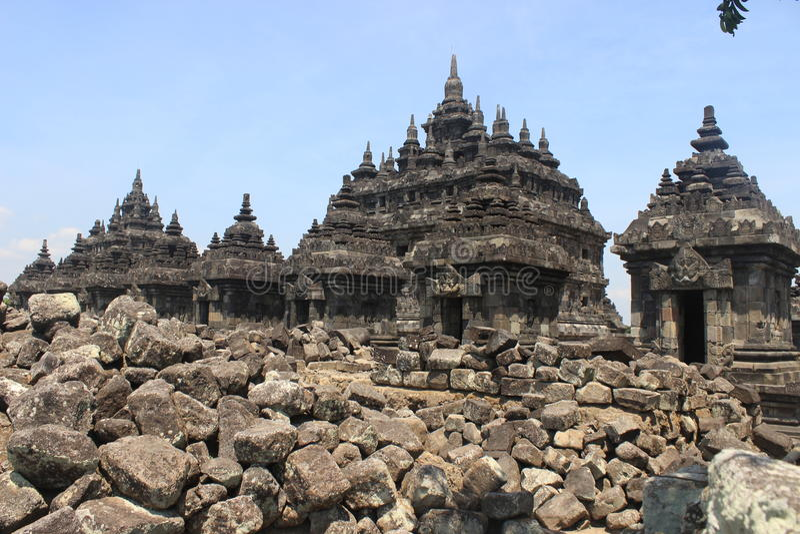 Templo de Plaosan fotografia de stock