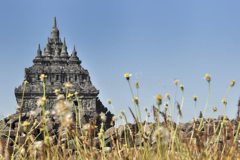 Templo 2 de Plaosan imagenes de archivo