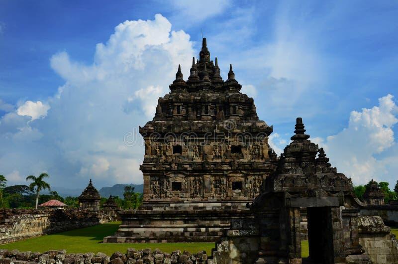 Templo de Plaosan en Klaten, Java central, Indonesia fotos de archivo libres de regalías