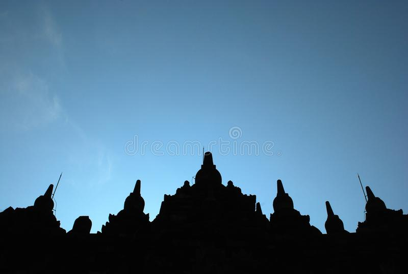 Templo de Plaosan, Indonésia imagem de stock royalty free