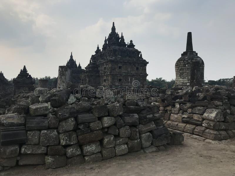 Templo de Plaosan fotografía de archivo libre de regalías