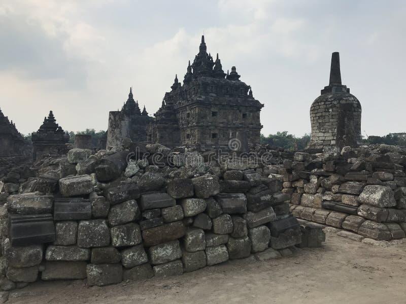 Templo de Plaosan imagen de archivo libre de regalías