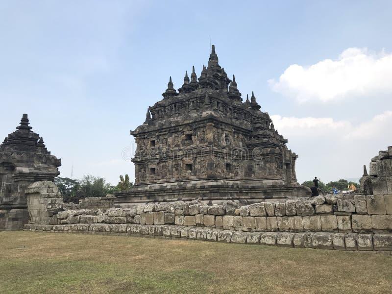 Templo de Plaosan imagen de archivo