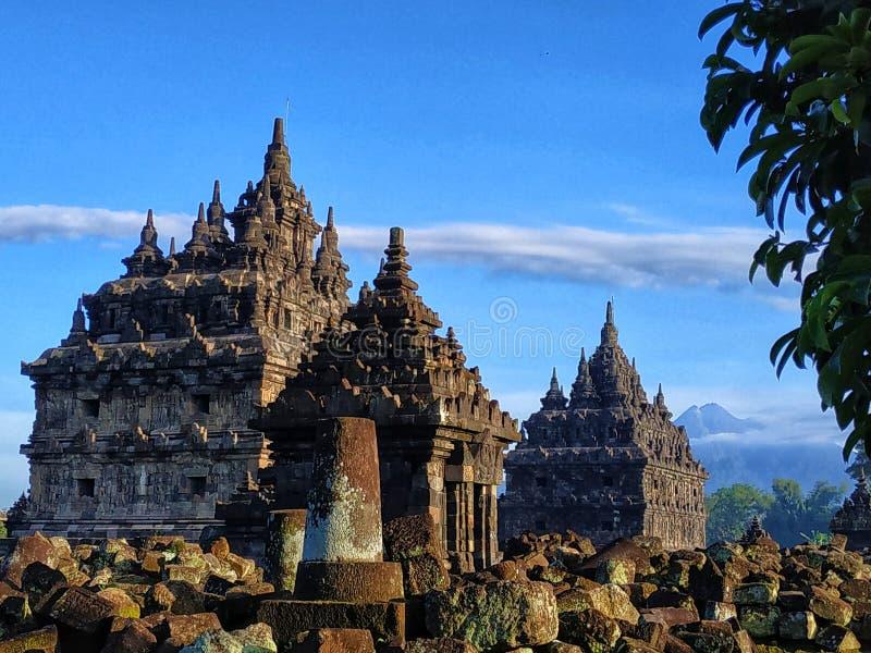 Templo de Plaosan, Klaten Java Indonesia central fotos de archivo libres de regalías