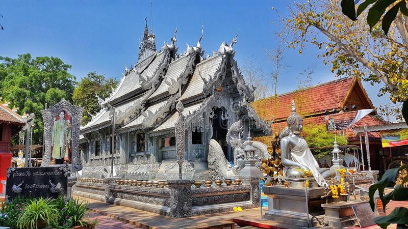 Templo de plata, Chiangmai, Tailandia imágenes de archivo libres de regalías