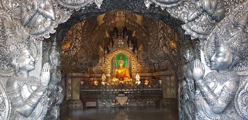 Templo de plata en changmai imágenes de archivo libres de regalías
