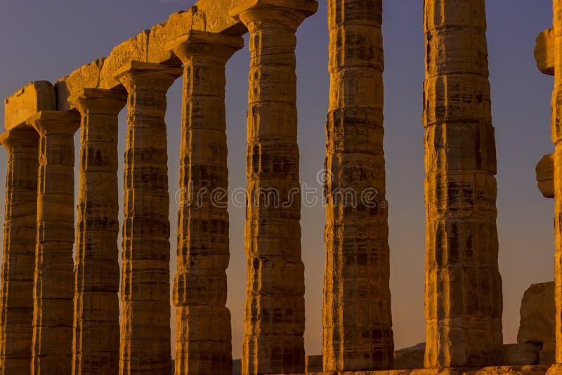 Templo de Poseidon fotografia de stock
