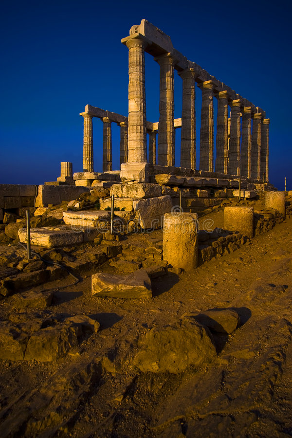 Templo de Poseidon fotografia de stock royalty free