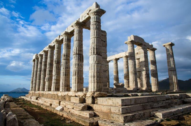 Templo de Poseidon foto de stock