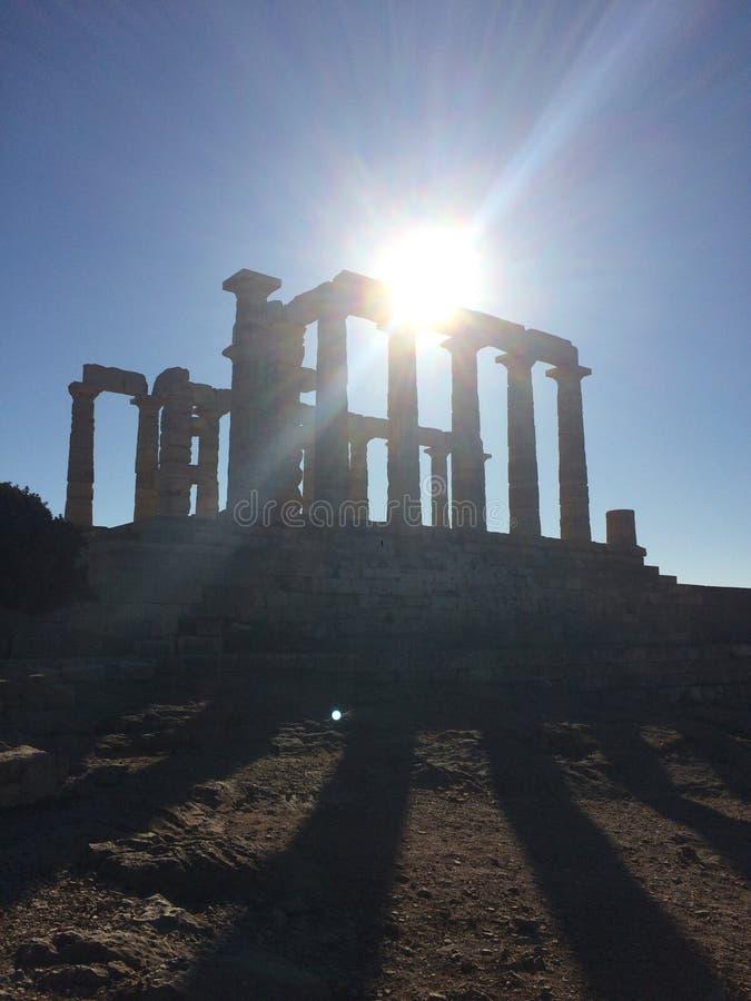 Templo de Poseidon Atenas imagens de stock royalty free