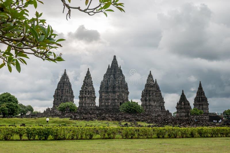 Templo de Prambanan foto de archivo libre de regalías