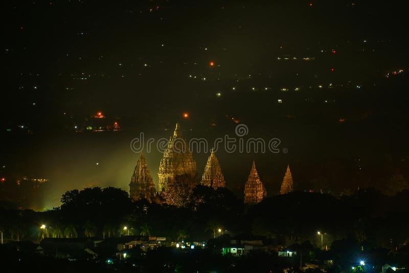 Templo de Prambanan fotos de archivo libres de regalías