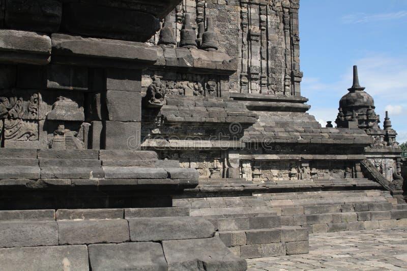 Templo de Prambanan cerca de Yogyakarta fotos de archivo