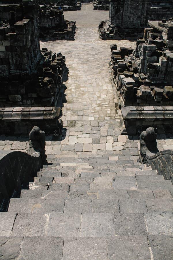 Templo de Prambanan cerca de Yogyakarta fotografía de archivo