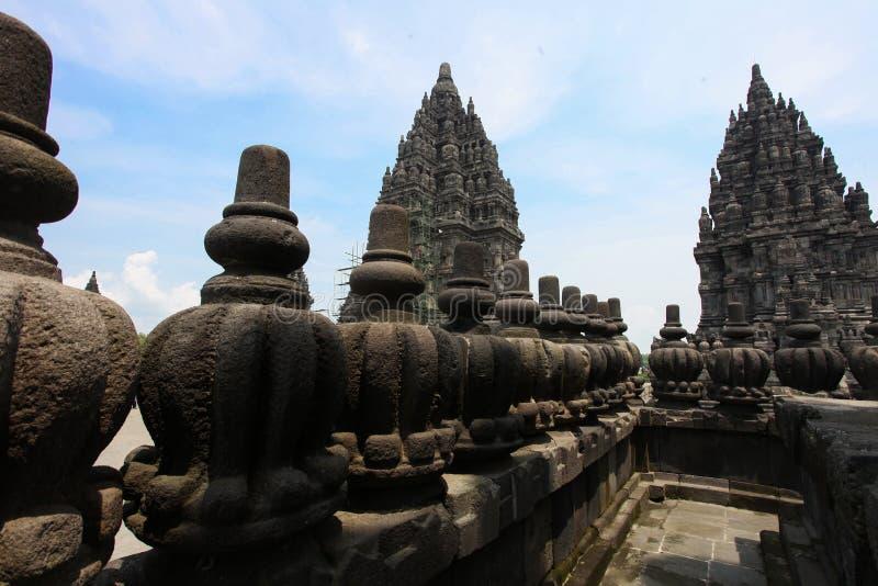 Templo de Prambanan cerca de Yogyakarta imagenes de archivo