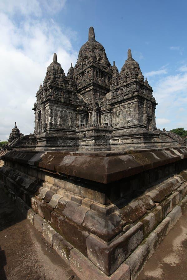 Templo de Prambanan cerca de Yogyakarta imagen de archivo libre de regalías
