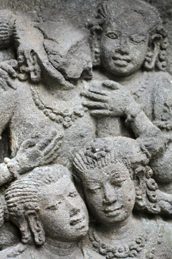 Templo de Prambanan cerca de Yogyakarta foto de archivo