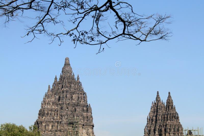 Templo de Prambanan cerca de Yogyakarta fotos de archivo libres de regalías