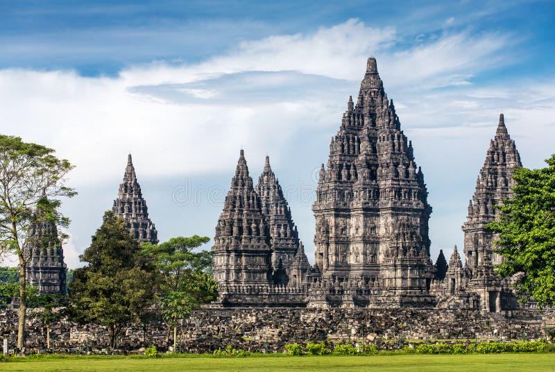 Templo de Prambanan cerca de Yogyakarta en Java, Indonesia fotografía de archivo