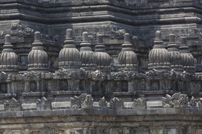 Templo de Prambanan cerca de Yogyakarta en la isla de Java, Indonesia fotos de archivo libres de regalías