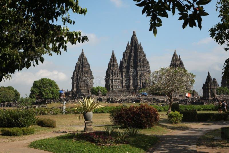 Templo de Prambanan cerca de Yogyakarta, Java central, Indonesia foto de archivo