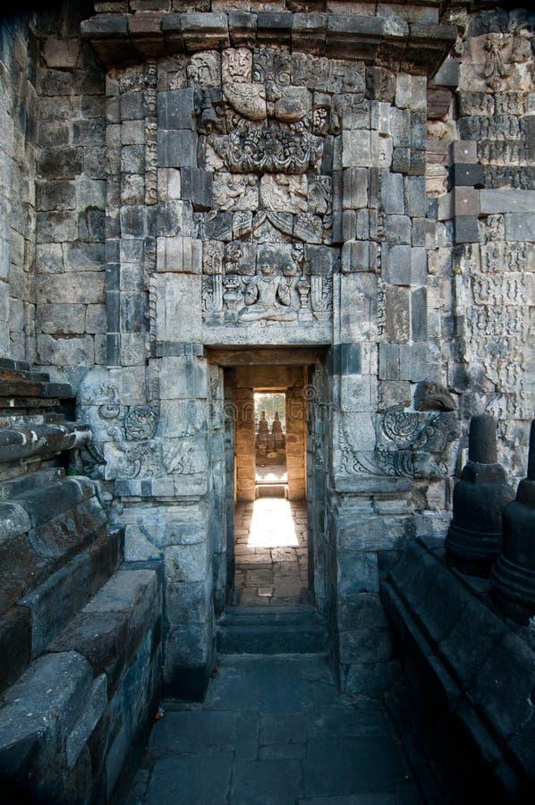 Templo de Prambanan, Java, Indonésia fotos de stock