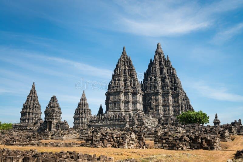 Templo de Prambanan, Java, Indonesia fotos de archivo libres de regalías