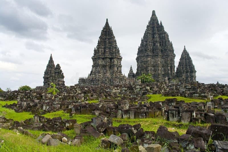 Templo de Prambanan. Yogyakarta, Java, Indonésia fotos de stock royalty free