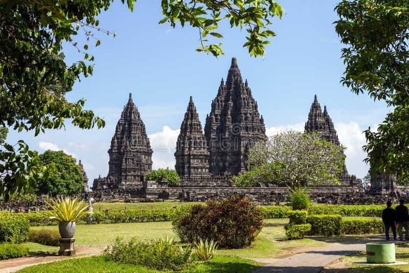 Templo de Prambanan, Yogyakarta, Java, Indonésia imagens de stock