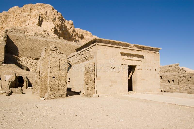Templo De Ptolemy, EL Medina De Deir Imagen de archivo libre de regalías