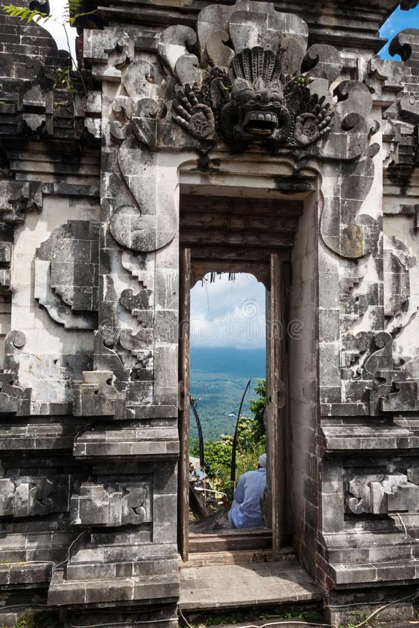 Templo de Pura Lempuyang fotos de stock royalty free