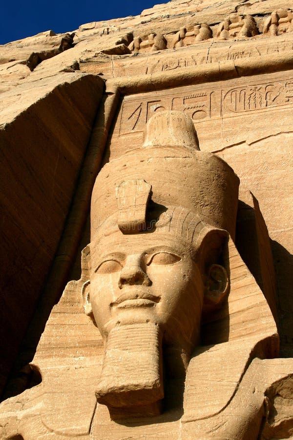 Templo de Rameses II en Abu Simbel fotografía de archivo libre de regalías
