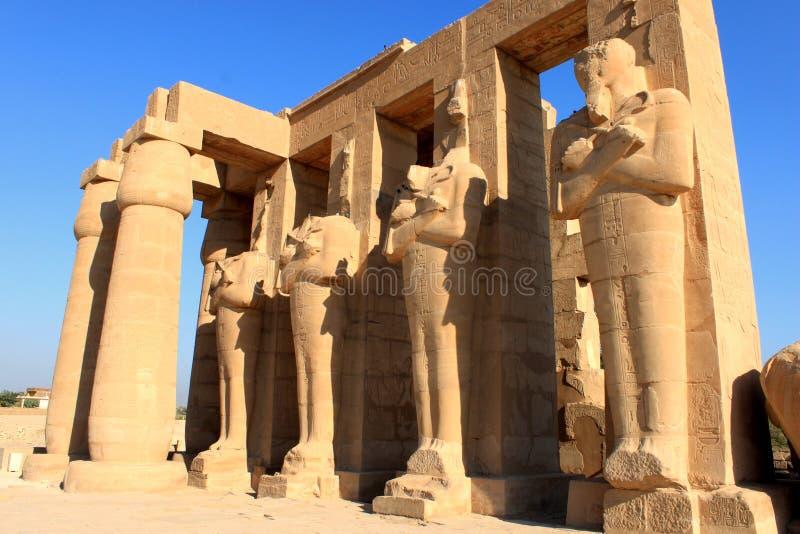 Templo de Ramesseum, Egipto imágenes de archivo libres de regalías