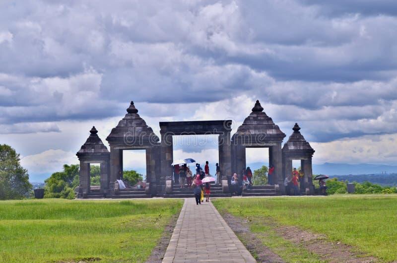 Templo de Ratu Boko imagen de archivo