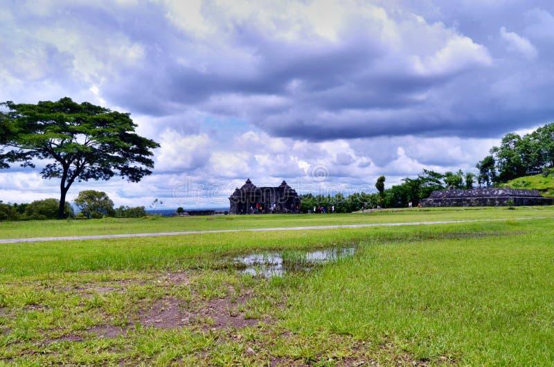 Templo de Ratu Boko foto de archivo libre de regalías