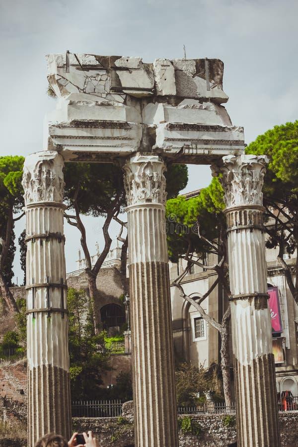 Templo de Roma, Itália do rodízio foto de stock