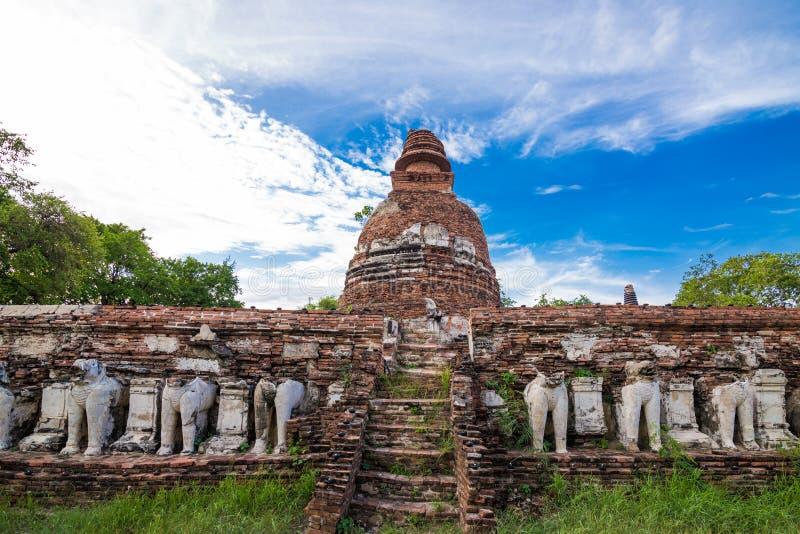 Templo de ruina en ayutthaya, Tailandia imagen de archivo