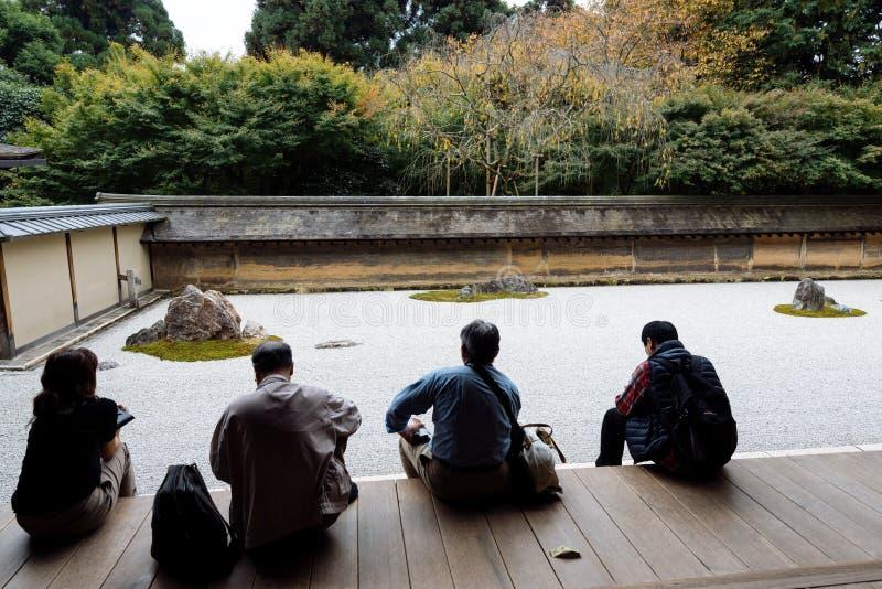 Templo de Ryoan-ji en Kyoto imágenes de archivo libres de regalías