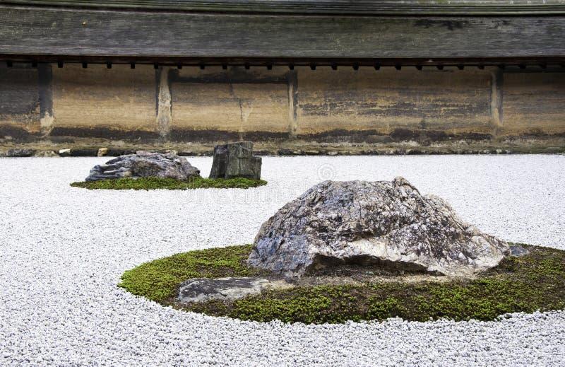 Templo de Ryoan-ji en Kyoto, Japón. imagenes de archivo