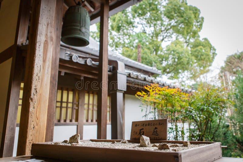 Templo de Ryoanji en Kyoto, Japón imágenes de archivo libres de regalías