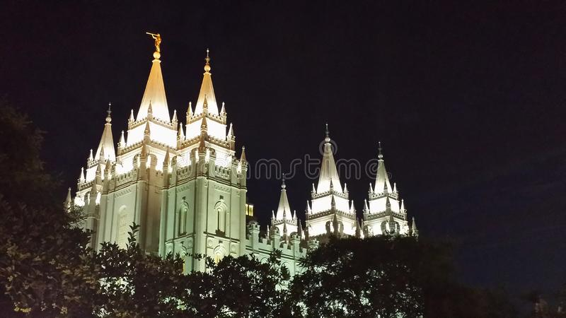 Templo de Salt Lake City foto de stock royalty free
