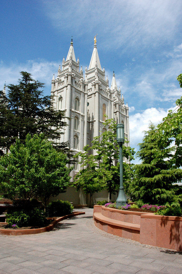 Templo de Salt Lake City fotos de archivo