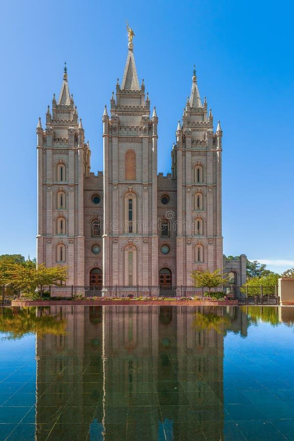 Templo de Salt Lake Salt Lake City ut? EUA fotos de stock royalty free