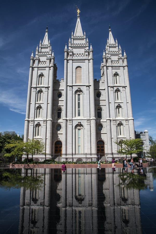 Templo de Salt Lake, a maioria de igreja importante dos mórmons, em Salt Lake City, Utá, EUA imagem de stock
