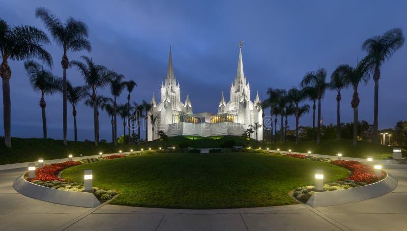 Templo de San Diego Califórnia imagens de stock
