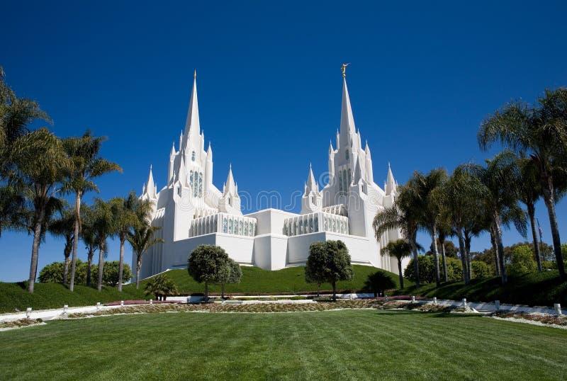 Templo de San Diego LDS foto de archivo libre de regalías