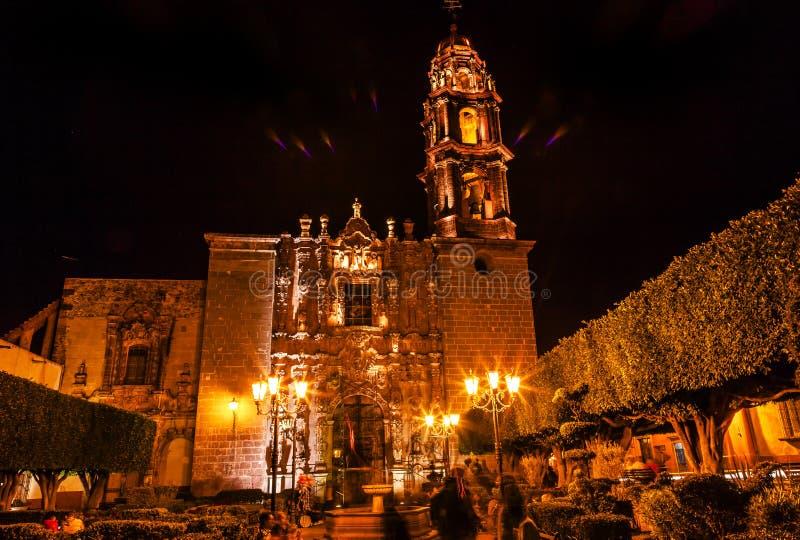 Templo de San Francisco Church San Miguel de Allende México foto de stock royalty free